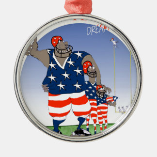 USA dream team, tony fernandes Silver-Colored Round Ornament