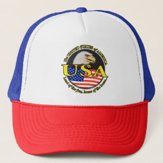 USA EAGLE AND FLAG CAP