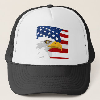 USA eagle and flag Trucker Hat