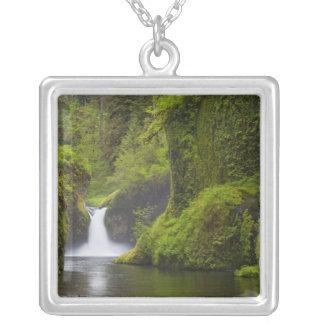 USA, Eagle Creek, Columbia Gorge, Oregon. 3 Square Pendant Necklace