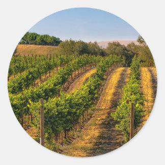 USA, Eastern Washington, Walla Walla Vineyards Round Sticker