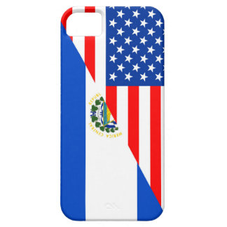 usa el salvador country half flag america symbol iPhone 5 case