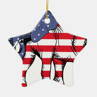 USA Election Elephant  2016 Ceramic Ornament