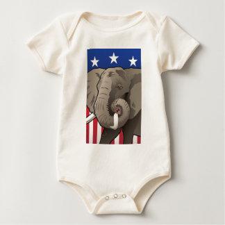 USA Elephant, Republican Pride Baby Bodysuit