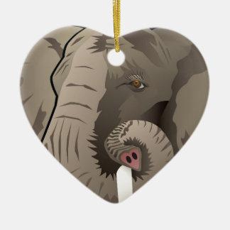 USA Elephant, Republican Pride Ceramic Heart Ornament