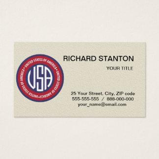 USA emblem Business Card