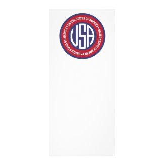 USA emblem Rack Card