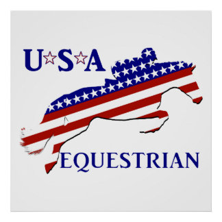 USA Equestrian Poster