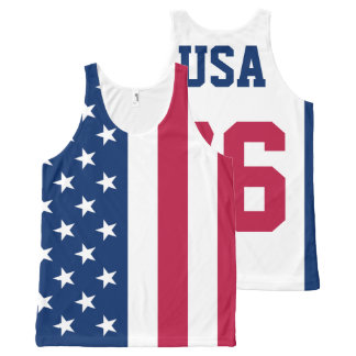 USA Est. 1776 American Flag All-Over-Print Tank Top