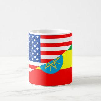 usa ethiopia country half flag america symbol coffee mug