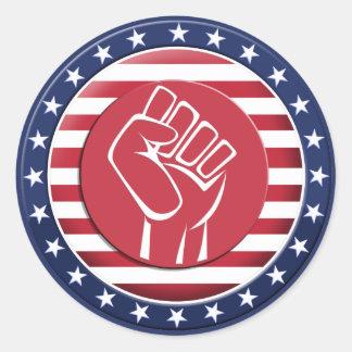 USA Fist Classic Round Sticker