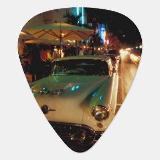 USA, FL, Miami, South Beach at night. 2 Guitar Pick