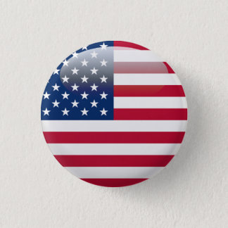 USA Flag 1 Inch Round Button