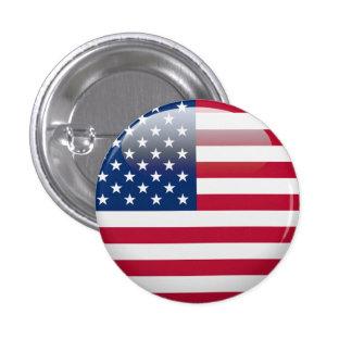 USA Flag 1 Inch Round Button