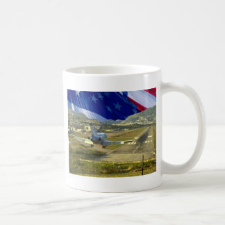 USA Flag Airliner Coffee Mug