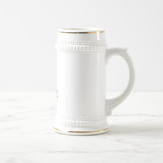 USA Flag American Initial Monogram A Beer Stein