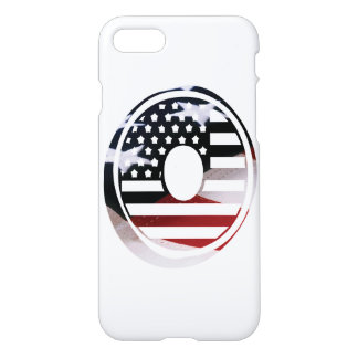 USA Flag American Initial Monogram O iPhone 7 Case