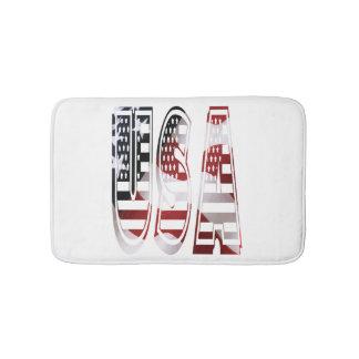 USA Flag American Logo Bathroom Mat