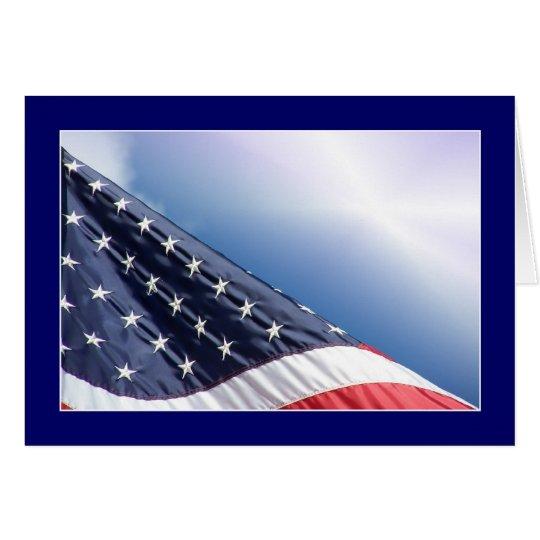 USA Flag - American Patriotic Greeting Card