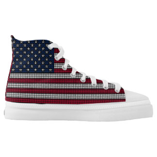 USA Flag American Patriotic High Tops