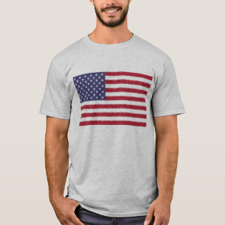 USA Flag American Patriotic Man T-Shirt