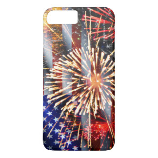 USA Flag and Fireworks iPhone 7 Plus Case