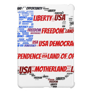 USA Flag and Map Word Cloud Case For The iPad Mini