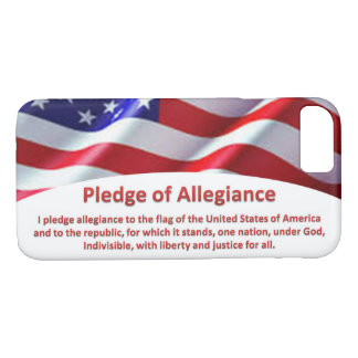 USA Flag and Pledge of Allegiance iPhone 8 Case