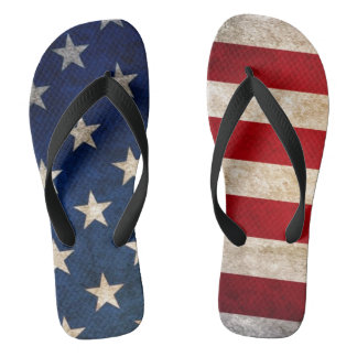 usa flag and stars unisex flip flops