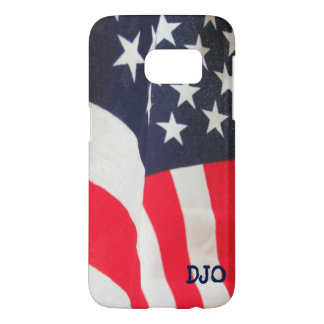 USA Flag and your initials Samsung Galaxy S7 Case