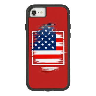 USA Flag Apple iPhone 7, Tough Xtreme Phone Case