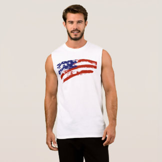 USA Flag Art Sleeveless T-Shirt