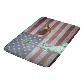 Usa flag bath mat