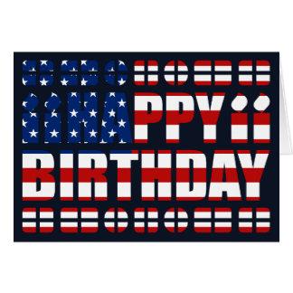 USA Flag Birthday Card