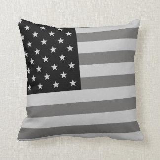 USA Flag Black & White Pillows