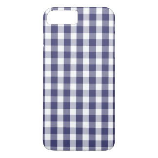 USA Flag Blue and White Gingham Checked iPhone 8 Plus/7 Plus Case