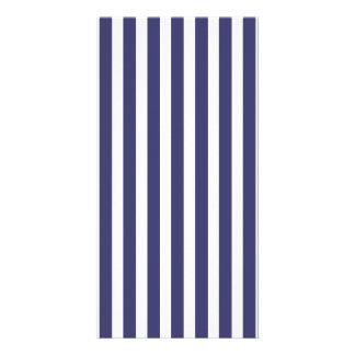 USA Flag Blue and White Stripes Custom Photo Card