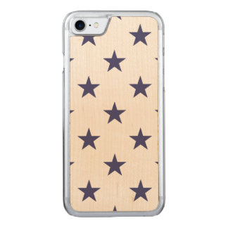 USA Flag Blue Stars on White Carved iPhone 7 Case