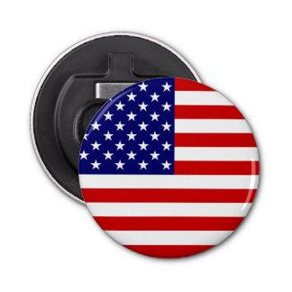 USA Flag Bottle Opener Round Button Bottle Opener