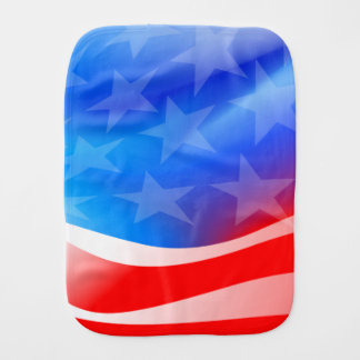 USA flag Burp Cloth