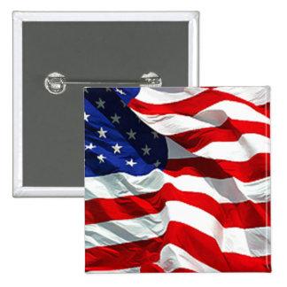 USA Flag Button Pins