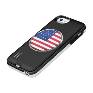 USA Flag Button Power Gallery iPhone SE/5/5S Case