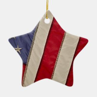 USA FLAG CERAMIC STAR ORNAMENT