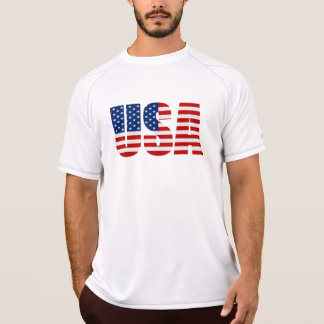 USA Flag Champion Double Dry Muscle T-Shirt