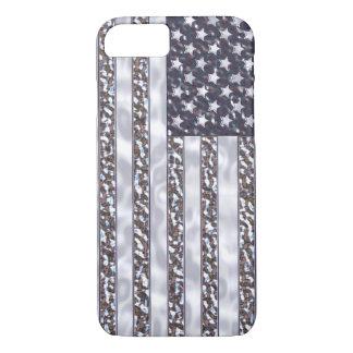 USA Flag Chrome iPhone 7 Case