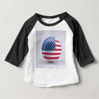 usa-flag circle design baby T-Shirt