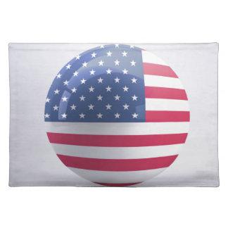 usa-flag circle design placemat