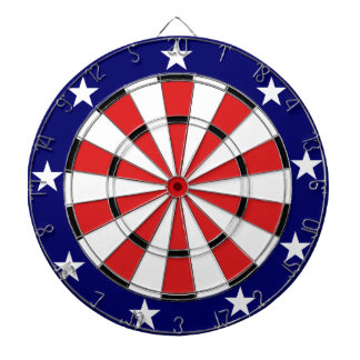 USA Flag colors Dartboard