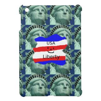 USA Flag Colors With Statue Of Liberty iPad Mini Cover