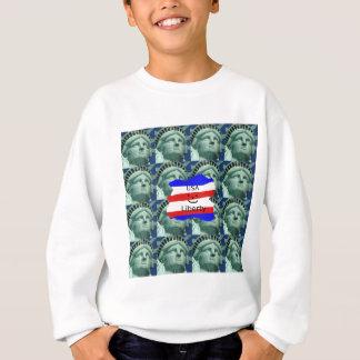 USA Flag Colors With Statue Of Liberty Sweatshirt